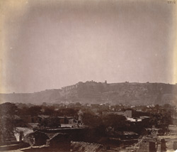 General view from the north-east of the fort, Gwalior